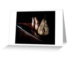 sliced pears Greeting Card