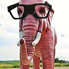 Pink Elephant by AuntieJ