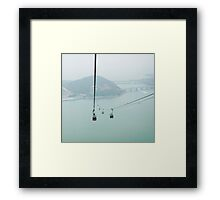 cable-scene Framed Print