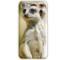 Two Meerkats Guard The Burrow. iPhone Case/Skin