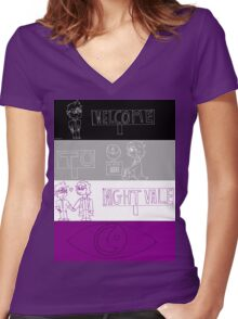 Welcome to Acevale Women's Fitted V-Neck T-Shirt