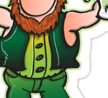 Saint Patrick's Day Leprechaun Drinking Beer Sticker