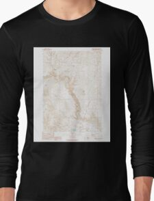 USGS Topo Map Oregon Becker Creek 278986 1990 24000 Long Sleeve T-Shirt