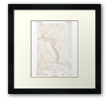 USGS Topo Map Oregon Becker Creek 278986 1990 24000 Framed Print