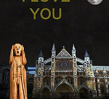 The Scream World Tour Westminster Abbey I Love You by Eric Kempson