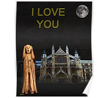 The Scream World Tour Westminster Abbey I Love You Poster