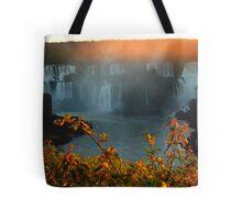 sunset at Iguassu Falls Tote Bag