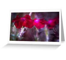 Red Flower Art Greeting Card