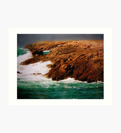 Cote Sauvage, Quiberon, Bretagne Art Print