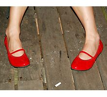 Red Shoes_Cigarette Butt Photographic Print