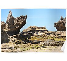 Rock Formations - Roadnight Beach Poster