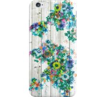 world map floral 3 iPhone Case/Skin