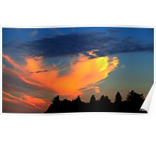 Fiery Sunset Poster