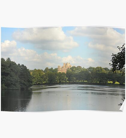 Wollaton Hall, Nottingham - view from the boat house Poster