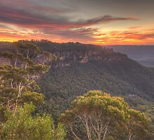 Blessing - Jamison Valley, Blue Mountains World Heritage  Area - The HDR Experience by Philip Johnson
