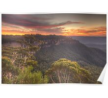 Blessing - Jamison Valley, Blue Mountains World Heritage  Area - The HDR Experience Poster
