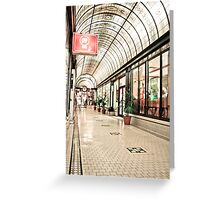 Cathedral Arcade, Melbourne Greeting Card