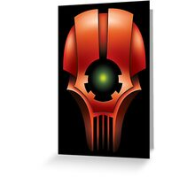 Skull of the Red Mech Greeting Card
