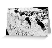 Jim Morrison grave Greeting Card