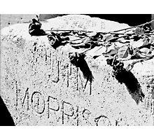 Jim Morrison grave Photographic Print