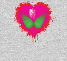 lovebomb iiis evol (blood splatter) Womens Fitted T-Shirt