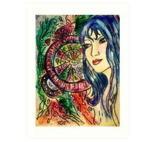 Mapping out Her World... Art Print