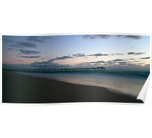 Grange Jetty At Sunset Poster