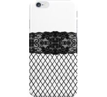 Elegant Pretty Thigh Stocking Fishnet Lace iPhone Case/Skin