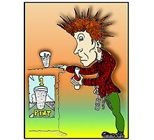 Johnny Rotten Cartoon [John Lydon] Photographic Print