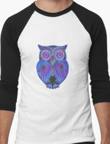 Ornate Owl 5 Men's Baseball ¾ T-Shirt