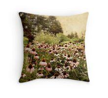 Echinacea Garden Throw Pillow