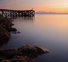 Portencross sunset by Grant Glendinning