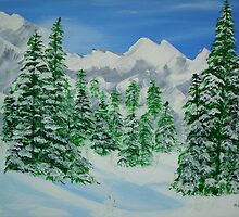 Winter on The Mountains by maggie326