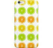 Citrus Lime, Orange, and Lemon Polka Dot Slices iPhone Case/Skin