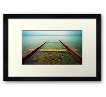 WaterTracks Framed Print