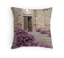 Church Flowers in Tuscany Throw Pillow