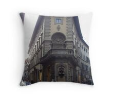 Streets of Florence, Italy Throw Pillow