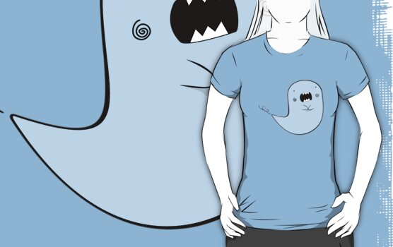 Transparent Ghost (different color for each T-Shirt) by EmilioPereiro