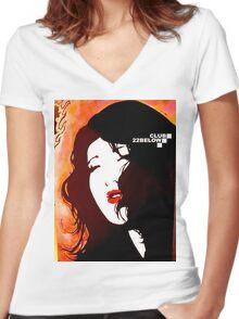 Portrait Women's Fitted V-Neck T-Shirt