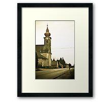 Village church, Csokonyavisonta, Hungary Framed Print