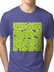 Summer Citrus Lime Slices Tri-blend T-Shirt