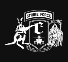 Strike Force Charlie (White Print Small Logo) by infinitX
