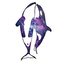 Orcas in space Photographic Print