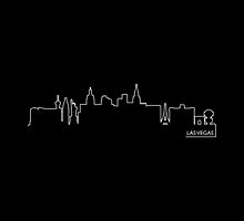 Las Vegas cityscape (white line) by peculiardesign