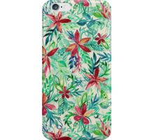 Vintage Tropical Floral - a watercolor pattern iPhone Case/Skin