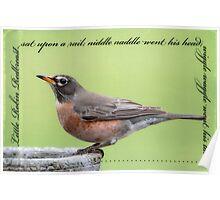 Little Robin Redbreast Nursery Rhyme Poster