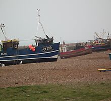 Fishing Boats on the Stade by mike  jordan.