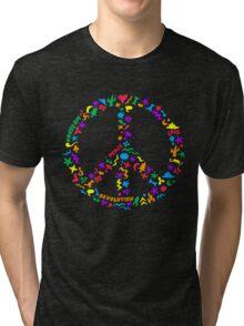 Peace Symbol Tri-blend T-Shirt