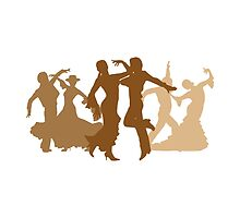 Flamenco Dancers Illustration  by peculiardesign