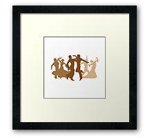 Flamenco Dancers Illustration  Framed Print
